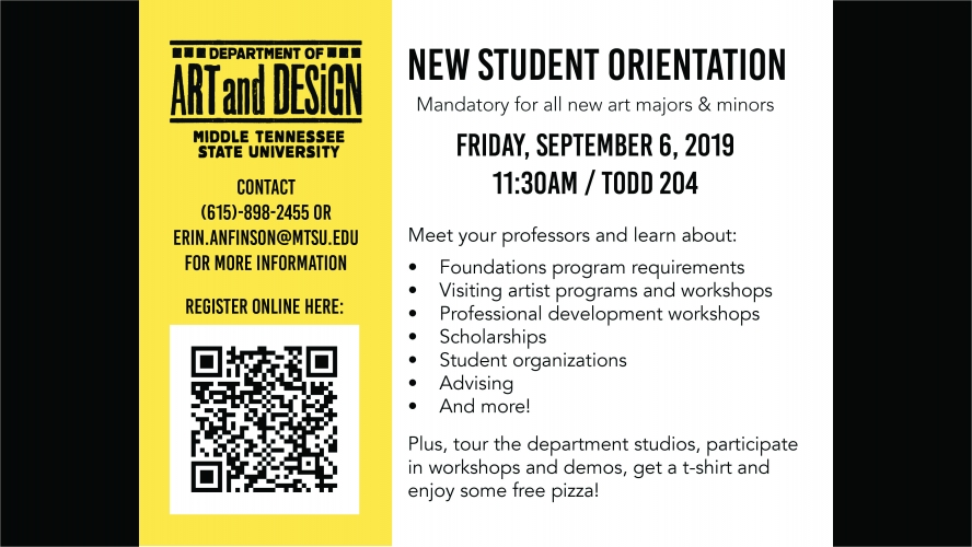 Art and Design New Student Orientation