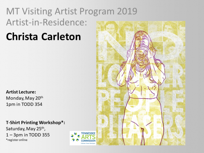 Middle Tennessee Visiting Artist Program / Artist Residency / Christa Carleton