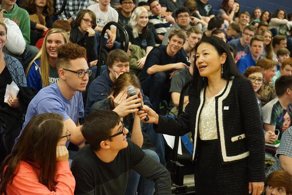 Dr. Han at White House High School, TN