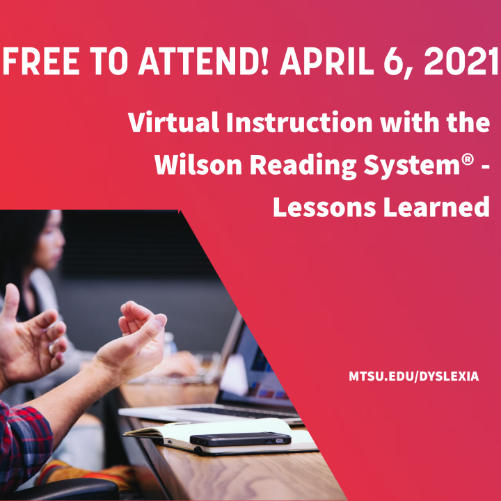 Virtual Instruction with the Wilson Reading System: Lessons Learned