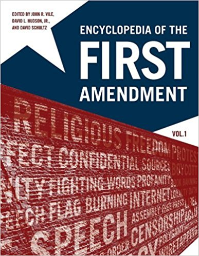 Cover image of Encyclopedia of the First Amendment.jpg