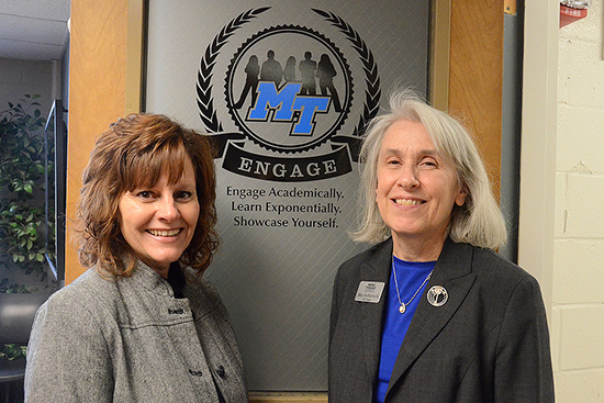 Dr. Dianna Rust and Dr. Mary Hoffschwelle (Photo by Jimmy Hart)