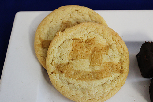 Cookies decorated using the laser etcher in the library's MakerSpace