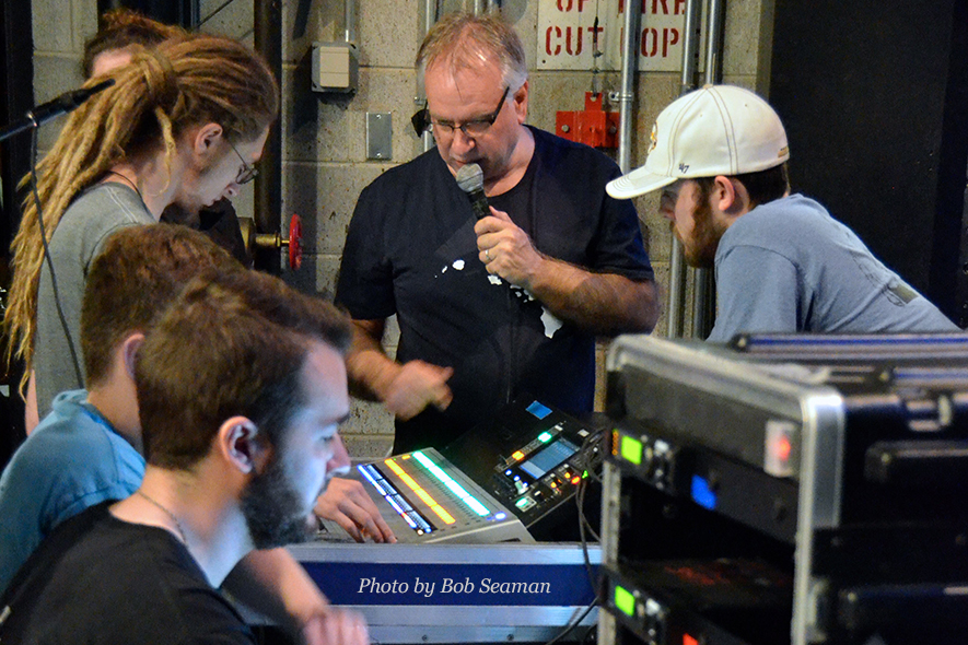 Professor Frank Baird directs student-led live production