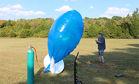Inflating Blimp