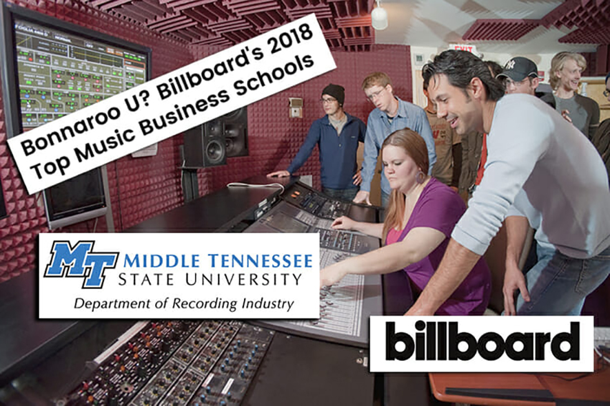 Billboard again includes MTSU recording industry program in nation's top music business schools