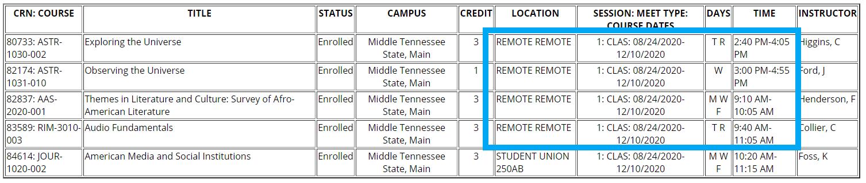 Remote Schedule