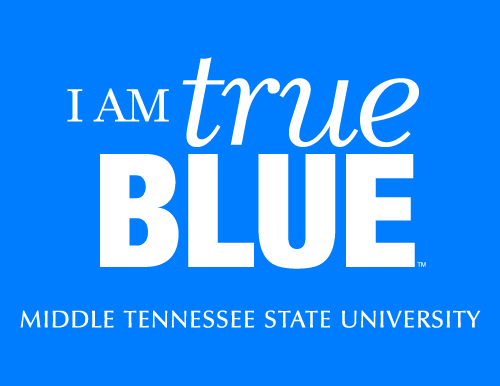 I am True Blue Sign - Blue